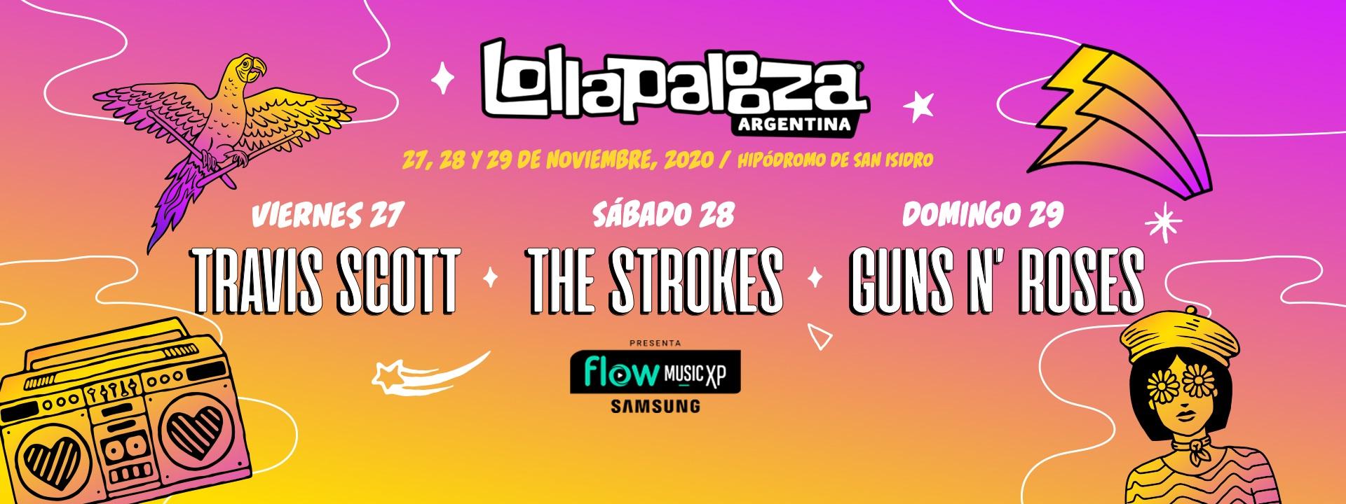 Lollapalooza 2020 - 27, 28 y 29 de Noviembre